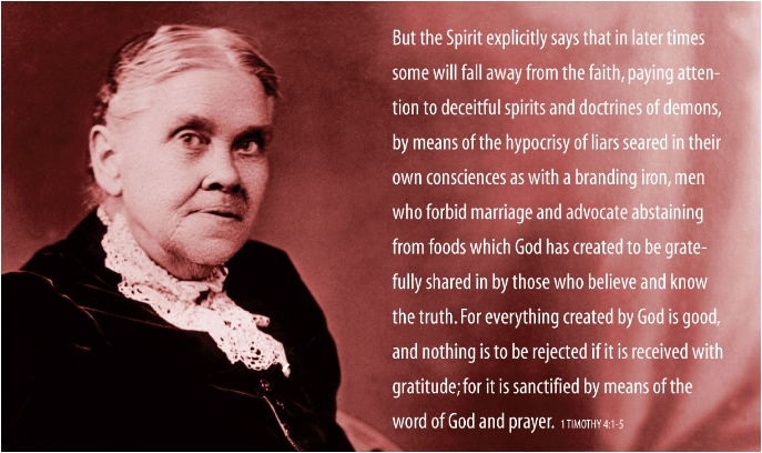 Ellen White with text